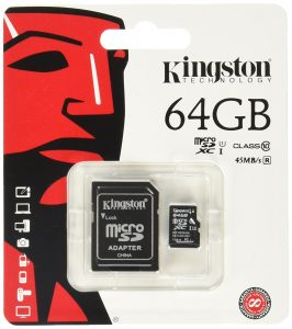 Kingston MicroSDHC/SDXC Classe 10 UHS-I, 64 GB